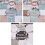 ewtshop® 3blocs de 36feuilles à motifs, imprimé d'un seul côté, papier design, papier de loisirs créatifs, papier de décora