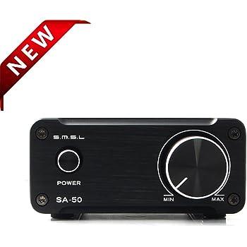 SMSL TDA7492 SA-50 Amplificateur Hi-Fi stéréo classe D avec adaptateur secteur 2 x 50 W