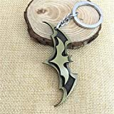 LinZX Union Avenger Mode Batman Porte-clés pour Sac Charm Pendentif Porte-clés Suspendus Porte-clés de la chaîne clé de Voiture Hommes Femmes,Gold