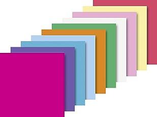 Heyda 204875520 Faltblatt (Papier, 20 x 20 cm, 10 Farben sortiert, 100 Blätter)