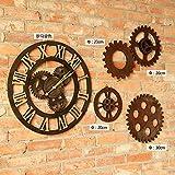 YANXUEPING Creative Industrial Wind Ornamente, Retro Living Room Bar Mechanische Getriebe, Wall Clock Wall Clock, Vier