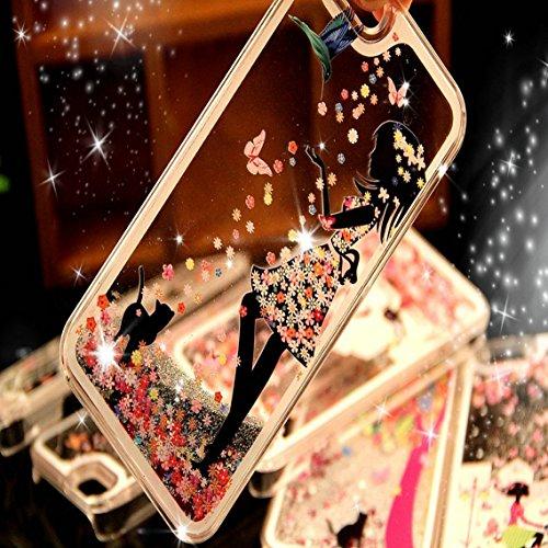 iPhone SE Hülle Glitzer,iPhone SE Hülle Hard,iPhone SE Hülle Clear,iPhone SE Transparent Crystal Clear flüssigkeit Case Hülle Klare Ultradünne Transparente Gel Schutzhülle Durchsichtig Rückschale Etui Girl Series 2