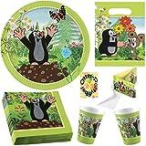 Der Kleine Maulwurf Krtek Little Mole Partyset 52tlg. für 8 Kinder Teller Becher Servietten Tüten Einladung