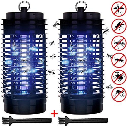 Elektrischer Insektenvernichter Set Insektenabwehr | 50m² | UV Licht | 2 Reinigungspinsel | Insektenfalle Mückenfalle