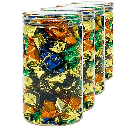 D Luxy Pack 4 Barattoli di Polietilene Alimentare 13 L Contenitori con Coperchi Trasparente Polietilene.