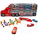 Nuheby Auto Spielzeug LKW Autotransporter Transporter Spielzeug mit 6 Spielzeugauto Set Kindergeburtstag Gastgeschenke…