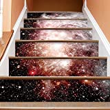 YIFENGJUBAO Staircase Stickers Self-Adhesive Waterproof Diy Wall Stickers Galaxy Stair Decoration
