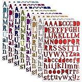 WXJ13 8 Colores Carta Pegatinas Pegatinas Del Alfabeto Autoadhesivo Sintética Material, Cada Color One Hojas