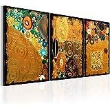 murando - Cuadro 120x60 cm - Abstraccion - Impresion en calidad fotografica - Lienzo tejido no tejido - Oro a-B-0074-b-e