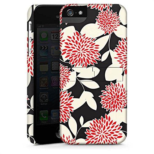 Apple iPhone 4 Housse Étui Silicone Coque Protection Fleurs Fleurs Ornements CasStandup blanc