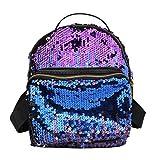 Rucksack Damen, HUIHUI Mini Pailletten Backpack Kinder-Rucksack Wasserdicht Reiserucksack Outdoor Wanderrucksacke Jugendliche mädchen Dakine Rucksack (Blau)