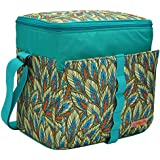 MIER 24 ¿Puede Verde bolsa de almuerzo con aislamiento de Medio Enfriar bolsa de picnic al aire libre del bolso para hombres y mujeres, prueba de fugas de línea dura