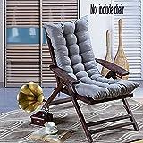 Chengyu Sitzkissen mit hoher Rückenlehne, 48x 120cm, für Liegestuhl/Schaukelstuhl, für den Winter, weich, warm, atmungsaktiv, saugfähig, für zu Hause, Büro, Stuhl, Auto und Außenbereich grau