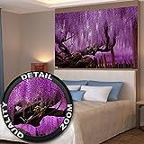 Wisteria papel pintado de fotografía –Wisteria plantas papilionáceascuadro mural – XXL cartel Wisteria decoración de la pared de flores by GREAT ART (140 x 100 cm)