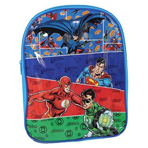 DC JUSTICE LEAGUE FHM15 La ligue de la justice avec Green lantern + Superman + Batman + Daredevil de DC comics sac à dos 32 cm/Justice League Backpack (32x24x10cm)