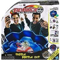 Hasbro - Beyblade, Metal Masters Triple Battle Set