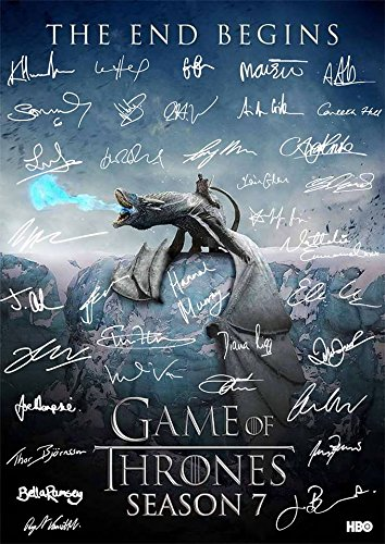 Game Of Thrones Full Cast Signed Autograph Signature A4 Poster Photo Print Photograph Artwork Wall Art Picture TV Show Series 7 Season DVD Boxset (POSTER ONLY)