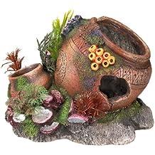 aqua adornos de jarra con mejillones de acuario decoracin