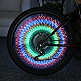 Generic 1 : Bicycle Water Resistant Spoke Lights 32 LEDs 32 Patterns Colorful Double-Sided Flash Wheel Spoke Light Suit Any Bike