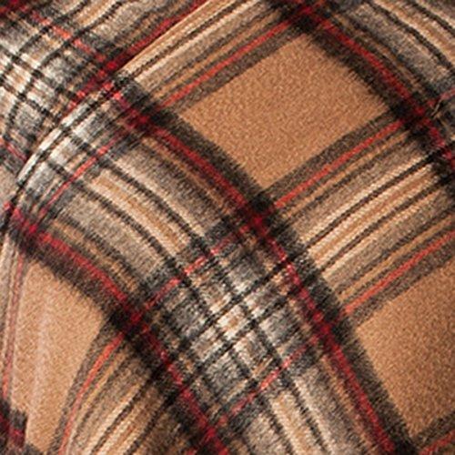Edinburgh 100% in lana Tartan Scozzese lungo mantello STEWART CAMEL