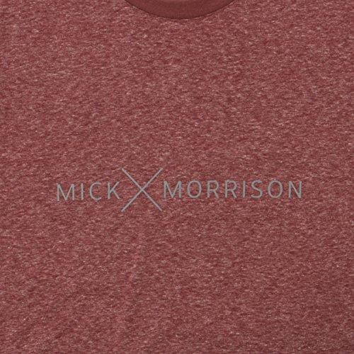 Mick Morrison Herren T-Shirt mit Print Rot (brick Melange 074)