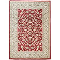 Alfombra salon sala de estar Orient Carpet clásico Design WINDSOR RUG 100% Polypropylen 200x300 cm Rectangular Rojo/Beige/Gris | Alfombras barata online comprar