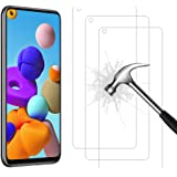 AHABIPERS Tempered Glass for Samsung Galaxy A21S Screen Protector, Easy Bubble-Free Installation, 9H Hardness, 99.99% HD Clar
