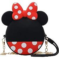 rosepartyh Portamonete per Bambina Minnie Mouse Mini Borsa Portafoglio per Regalo Festa Compleanno