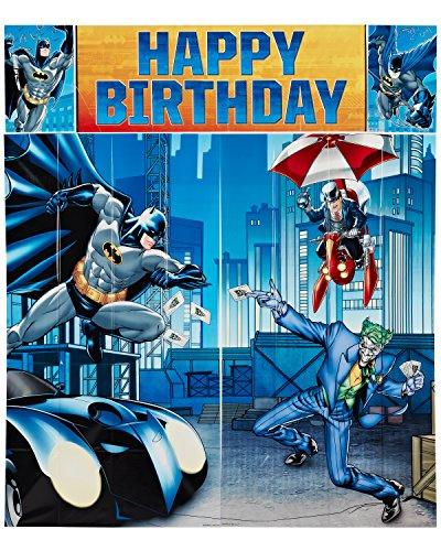 Batman & Friends Escena gigante Setter Pared Decoración fiesta de cumpleaños Kit por Amscan JUGUETE (Manual Inglés)