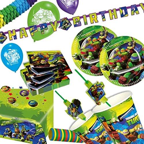 Teenage Mutant Ninja Turtles, Themenset, 55 Teile für bis zu 8 Kinder, Kindergeburtstag