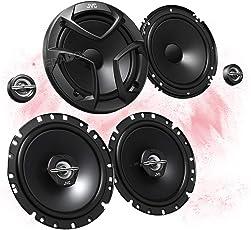 JVC Front/Heck 16,5cm/165mm Auto Lautsprecher/Boxen/Speaker Komplett-Set für Toyota