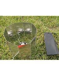 upetch (TM) Mini aleación de aluminio plegable al aire libre Camping cocina cocina de gas estufa viento Escudo plegable pantallas parabrisas qb012-sz