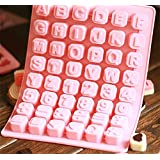 JoyGlobal Silicone 48 Cavity Alphabet Letter Number Math Sign Chocolate Candy Ice Cube Tray Mold Cake Decoration Mould (Chocolate Weight : Approx 6 Grams Per Cube)