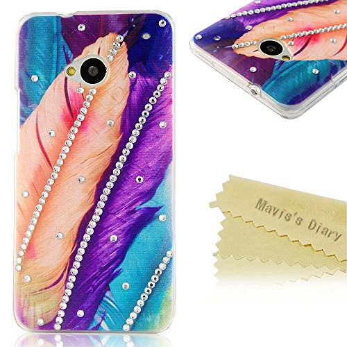 maviss-diaryr-coque-htc-one-m7-pc-rigide-bling-strass-plume-dessin-colore-housse-de-protection-phone