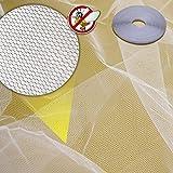 (Weiss 150x180cm) Fliegengitter Insektenschutz Mückenschutz schwarz weiss in verschiedenen Größen