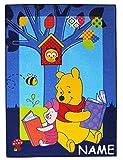 alles-meine.de GmbH Teppich / Spielmatte -  Disney Winnie The Pooh & Ferkel  - Incl. Name - Kind..