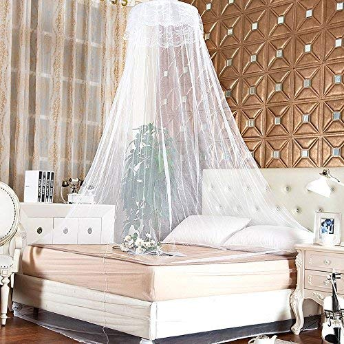 Kids Room Bedding Mosquito Net Romantic Round Bed Mosquito Net Bed Cover Hung Dome Bed Canopy Prevent Mosquitoes Insects Dust Exquisite Craftsmanship; Baby Bedding