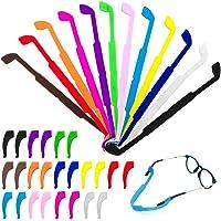 CKANDAY 12 Pack Anti Slip Enfants/Adulte Lunettes Sangles avec 12 paires Crochets Oreille, Porte-Verre De Sécurité…
