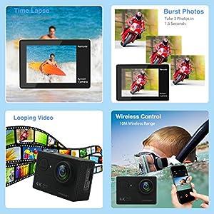 KAMTRON-Action-Cam-WiFi-Sport-Action-Kamera-Unterwasserkamera-Helmkamera