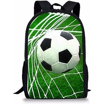 c54a31048533 Coloranimal Vivid Football Prints Child School Bags Laptop Book Backpacks  for Travel Bagpacks
