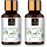 Good Vibes 100% Pure Eucalyptus Essential Oil - 10 ml - Soothes Skin, Helps Reduce Hairfall & Dandruff - Cruelty Free
