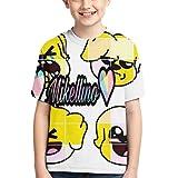 maichengxuan Camiseta para niños Mikecra-CK Camiseta de Manga Corta de Estilo Lindo Mikecra-CK Negro