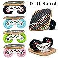 Prom-near Portable Road Drift Skates Platte mit 70mm PU Räder ABEC 7 Kugellager 2 Rollen 164mm x 84mm 4 Farben Wählen