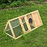 Wooden Triangle Rabbit Hutch, Outdoor Bunny...