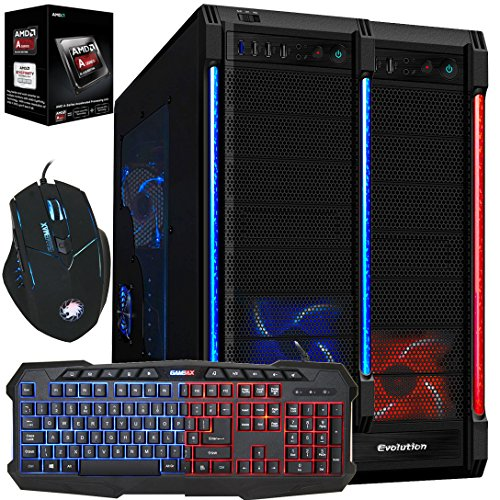 Freshtech Solutions Limited Freshtech AMD A8 4.2Ghz Quad Core 8GB 1TB FTS Gaming PC Desktop Computer Galaxy EVO HDMI Gigabyte F2A78M-HD2 Motherboard 8GB DDR3 1600mhz Performance Ram Onboard AMD Radeon HD 8570D EVGA 500w 80 Plus