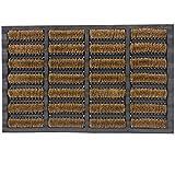 JVL Heavy Duty Nimbus Rubber Natural Coir Tuffscrape Door Mat - 40 x 60 cm