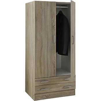 Armadio guardaroba legno kit due ante e due cassetti - Emporio del mobile in kit ...