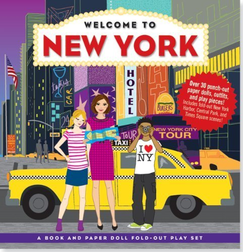 Welcome to New York (A Book and Paper Doll Fold-Out Play Set) by AnnMarie Anderson (2012-04-01)