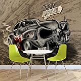 Alchemy Death Hot Rod Auto Totenkopf - Forwall - Fototapete - Tapete - Fotomural - Mural Wandbild - (2329WM) - PANORAMIC - 250cm x 104cm - VLIES (EasyInstall) - 1 Piece