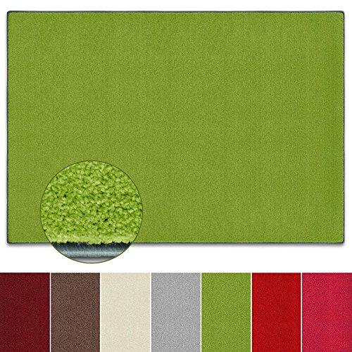 Teppich Noblesse | viele Größen | mit GUT-Siegel | flauschig getufteter Flor in modernen Farben | für Wohnzimmer, Schlafzimmer, Jugendzimmer (grün, 200x240 cm)
